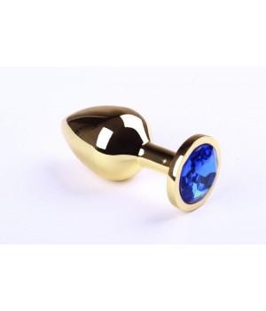 Анальная пробка sLash Sapphire M Золотая