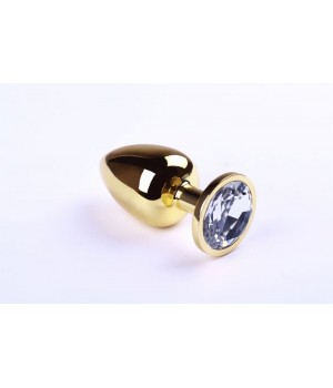 Анальная пробка sLash Diamond L Золотая
