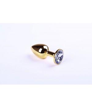 Анальная пробка sLash Diamond S Золотая