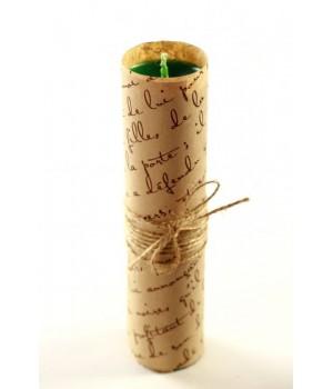 Свеча ручной работы sLash L Зеленая