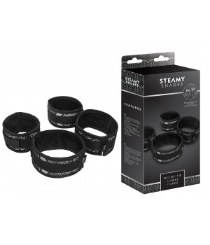 Наручники StRubber STEAMY SHADES Wrist to Ankle Cuffs