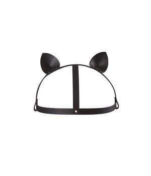 Маска кошечки Bijoux Indiscrets MAZE Cat Ears Headpiece Черная