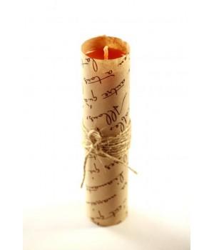 Свеча ручной работы sLash M Оранжевая