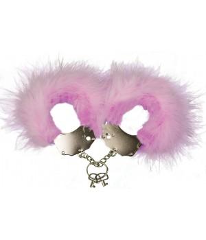 Наручники металлические с отделкой Adrien Lastic Handcuffs Розовые