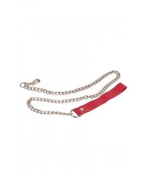 Поводок sLash Leather Leash Красный