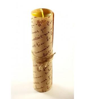 Свеча ручной работы sLash L Желтая