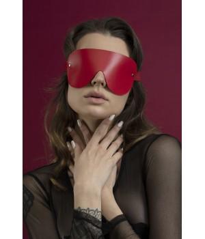 Маска кожаная закрытая Feral Feelings - Blindfold Mask красная