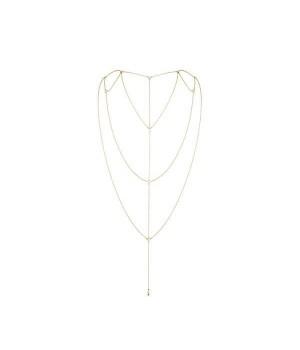 Цепочка для спины Bijoux Indiscrets Magnifique Back and Cleavage Chain Золотая