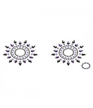 Пэстис из кристаллов Petits Joujoux Gloria set of 2 Черные/Фиолетовые