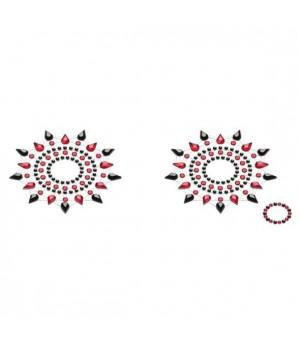 Пэстис из кристаллов Petits Joujoux Gloria set of 2 Черные/Красные
