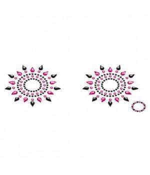 Пэстис из кристаллов Petits Joujoux Gloria set of 2 Черные/Розовые