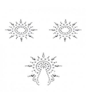 Пэстис из кристаллов Petits Joujoux Gloria set of 3 Серебристые