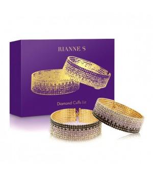 Лакшери наручники-браслеты с кристаллами Rianne S: Diamond Cuffs, подарочная упаковка