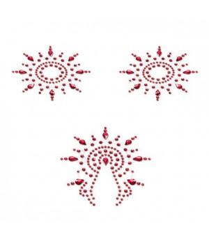 Пэстис из кристаллов Petits Joujoux Gloria set of 3 Красные