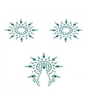 Пэстис из кристаллов Petits Joujoux Gloria set of 3 Зеленые/Голубые