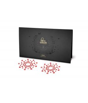 Пэстис из кристаллов Bijoux Indiscrets Mimi Красные
