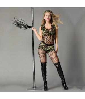 Эротический ролевой костюм-милитари JSY Опасная Дейзи Черный S/M