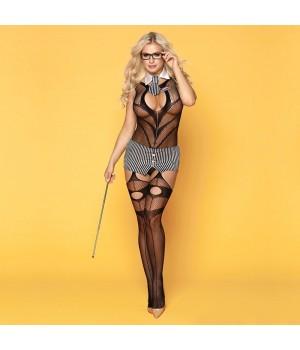 Эротический костюм учительницы JSY Строгая Марли Черный S/M