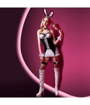 Эротический костюм зайки JSY Милашка Джейн S/M Черный/Белый