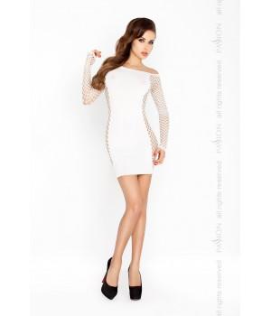 Короткое мини платье Passion BS025 S/XL Белое