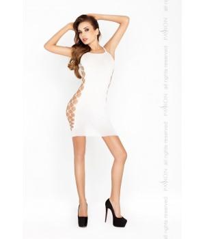 Короткое мини платье Passion BS026 S/XL Белое