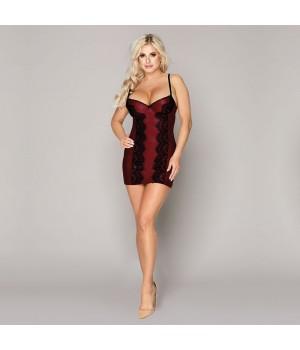 Эротическое платье JSY Бордовое S/M