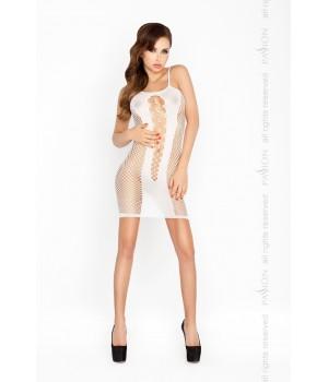 Эротическое платье-сетка Passion BS027 S/XL Белое