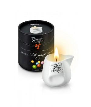 Массажная свеча Plaisirs Secrets с ароматом Жевательной Резинки 80 мл