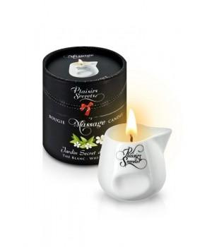 Массажная свеча Plaisirs Secrets с ароматом Белого Чая 80 мл