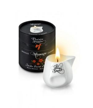 Массажная свеча Plaisirs Secrets с ароматом Красного Дерева 80 мл