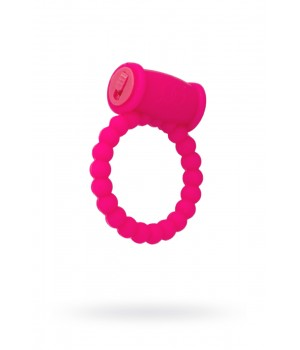 Эрекционное кольцо Toyfa A-TOYS 769006 Vibroring Розовое