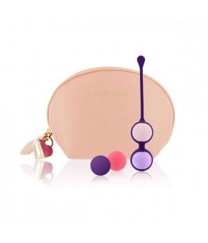 Набор вагинальных шариков Rianne S: Pussy Playballs Телесный, вес 15г, 25г, 35г, 55г, монолитные