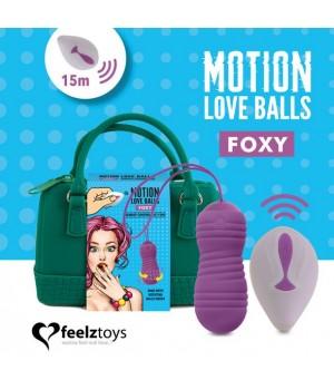 Вагинальные шарики с жемчужным массажем FeelzToys Motion Love Balls Foxy с пультом ДУ, 7 режимов