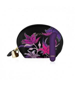 Мини вибратор для точки G Rianne S: Mini G Floral, 7 режимов работы, чехол-косметичка Фиолетовый