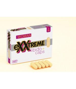 Капсулы для повышения либидо и желания для женщин Hot eXXtreme 5 шт в упаковке